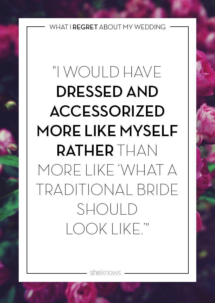 Wedding Day Regrets & Tips: I wish I'd been myself
