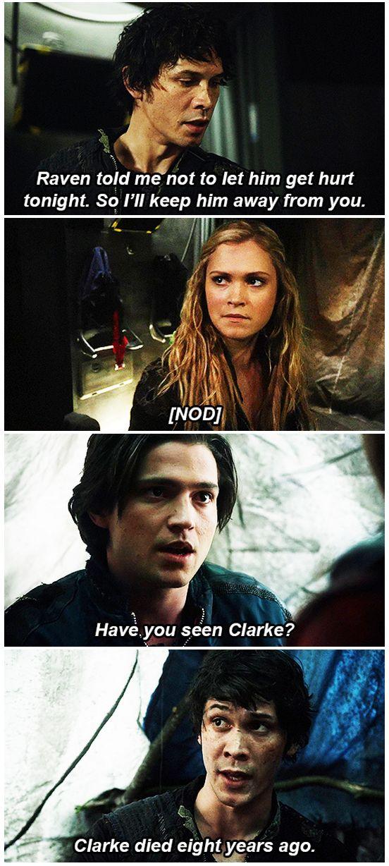 Omg! I laughed way too hard at this || The 100 fan work by tumblr user finnandbellamy || Bellamy Blake, Clarke Griffin and Finn Collins || Bob Morley, Eliza Taylor and Thomas McDonell || The 100