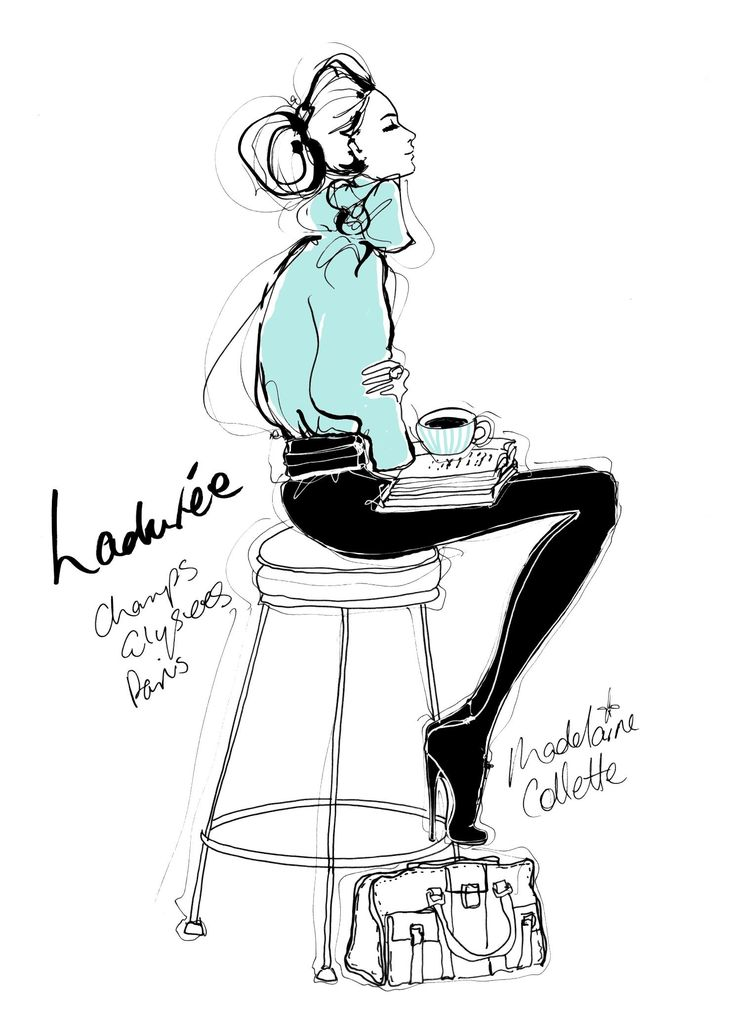 Ladurée, Champs-Élysées by Megan Hess, fashion illustrator who works with…