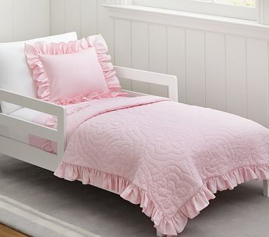 Ruffle Toddler Quilted Bedding #pbkids