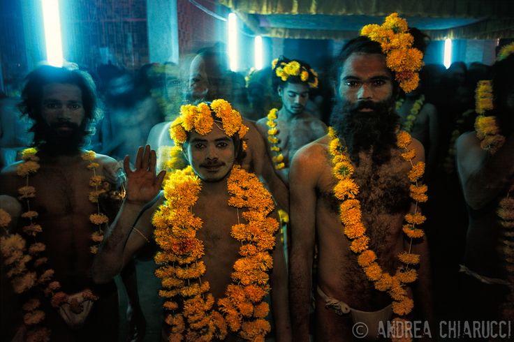 Naga Babas in occasions of Maha Kumbha Mela in Nashik. Maharashtra state of India. © andrea chiarucci www.studioclic.it