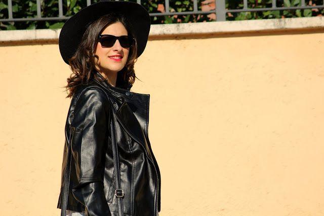 La Borsa di Martina: Outfit giacca di pelle nera