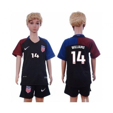 USA Trøje Børn 2016 #Williams 14 Udebanetrøje Kort ærmer.199,62KR.shirtshopservice@gmail.com