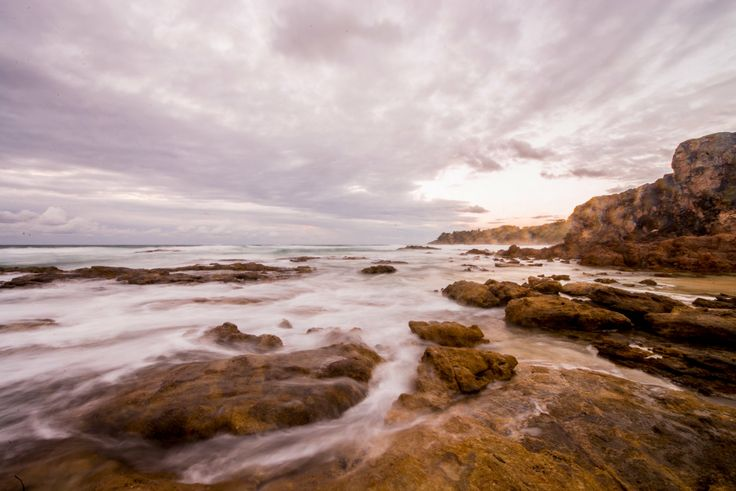 Sunset is amazing at the rockpools between Freanchmans and Deadmans beach on Straddie - Stradbroke Island Photography