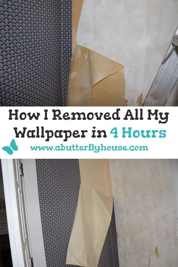Removing Wallpaper Quickly My Super Easy Method A Butterfly House Removable Wallpaper Home Improvement Loans Removing Old Wallpaper