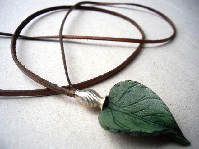 Leather handmade necklace - half day workshop kaula