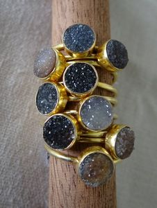 Black Druzy Rings - just perfect!