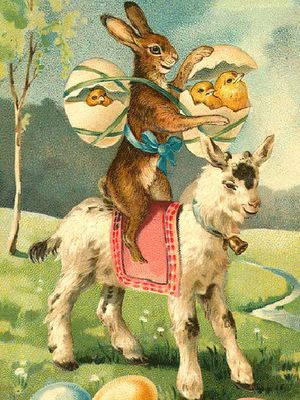 #goatvet likes this Easter card from Daughter Of The Golden West: Easter Sunday
