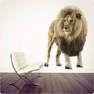 real-life lion from The Wall Sticker Company