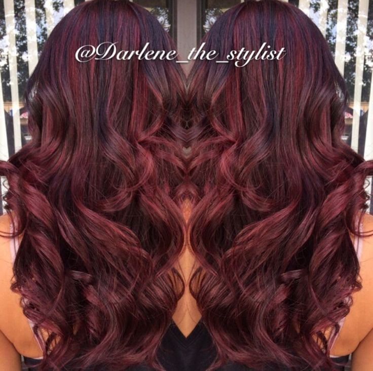 red balayage with dark brown lowlights hair styles