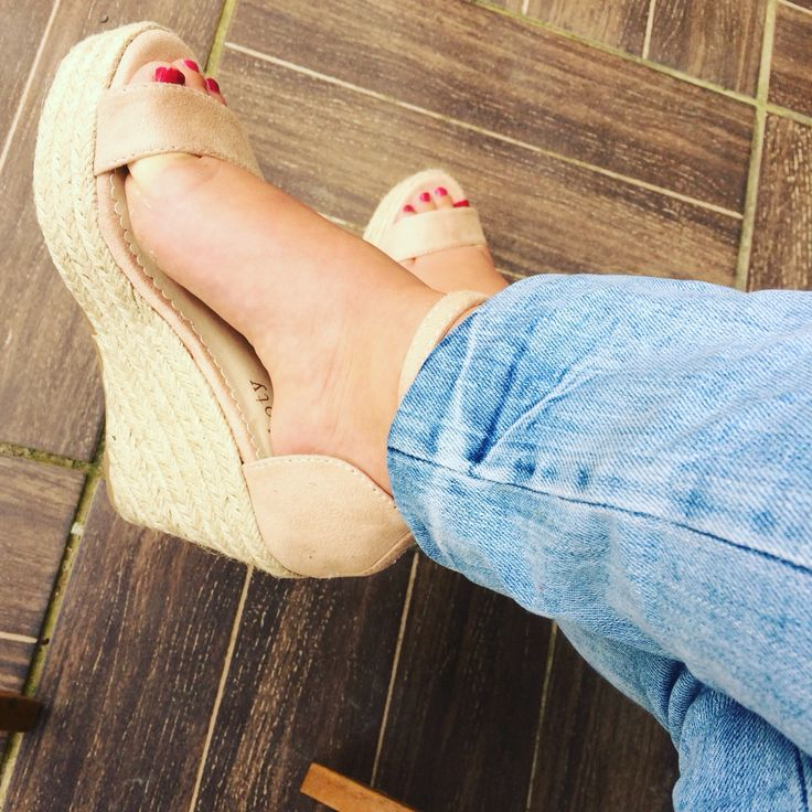 Sandales à talons compensés en petite pointure pour femme