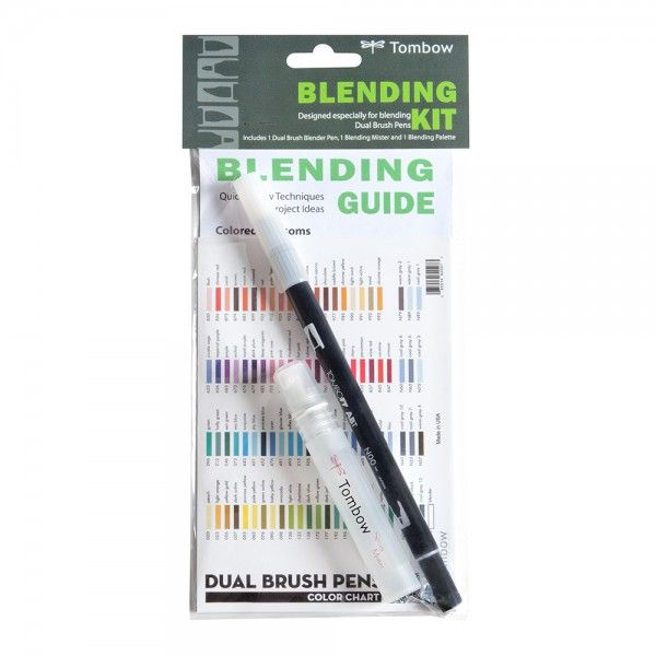 Tombow Blending Kit - for use with water-based dual brush markers or Faber Castell Pitt Artist Pens