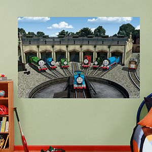 Thomas And Friends Station Mural