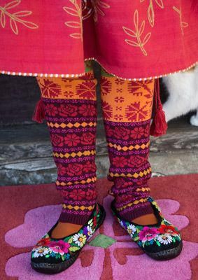 """Muhu"" leg warmers in cotton & wool – Inspired by Muhu – GUDRUN SJÖDÉN – Webshop, mail order and boutiques 