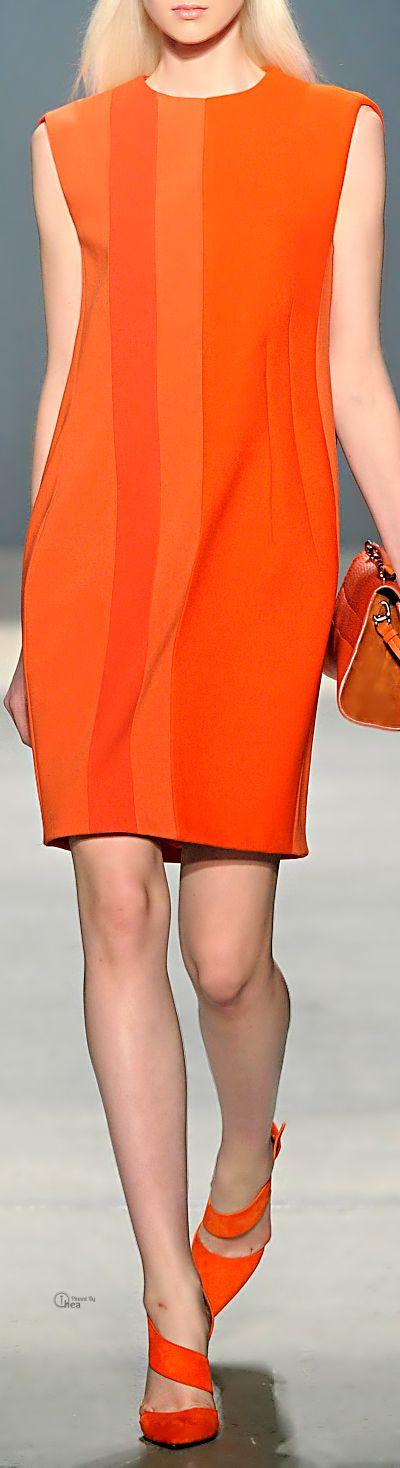 Farb-und Stilberatung mit www.farben-reich.com - Narciso Rodriguez ● Fall 2014, Wool Stretch Dress