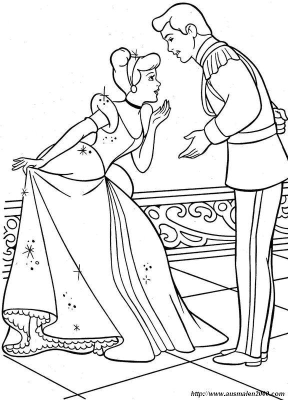 Immagine Cenerentola Al Ballo Con Il Suo Principe Coloring Pages
