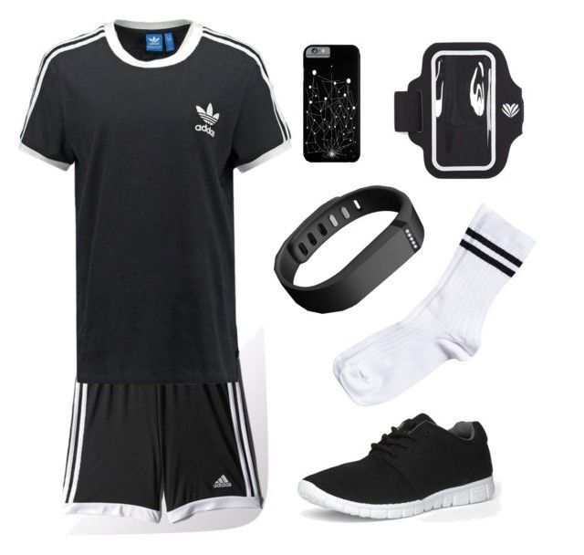 #4 by luke-fallon on Polyvore featuring polyvore, fashion, style, adidas Originals, Pieces, Dorothy Perkins, Forever 21 and Fitbit
