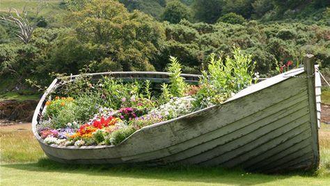 Blumenbeet aus Boot