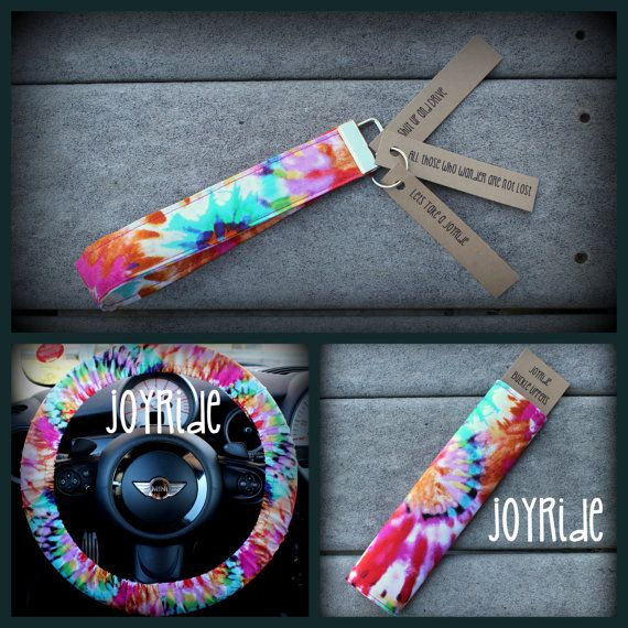 Your Joyrides will be so memorable with this amazing set of accessories. Options are: Keychain only $10.00 Steering wheel cover, 1 Seatbelt Cover and Keychain $35.00 Steering wheel Cover and 2 Seatbelt covers $35.00 Steering wheel cover, 2 Seatbelt Cover and Keychain $45.00