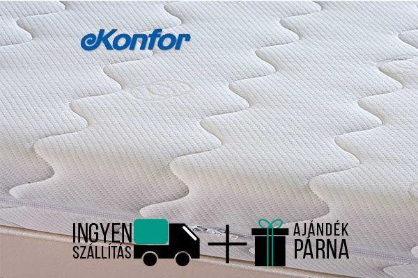 Konfor Visco memóriahab matrac 17 cm magas, puha konfort érzetű. Lecipzározható antiallergén pamut huzattal. A gyártó 10 év garanciát bíztosít a matracra.
