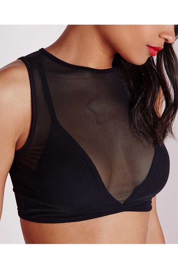 Black Mesh Cut Out Sexy Crop Top @ Sexy Crop Tops,Cropped Tops,Cheap Crop Tops,Long Sleeve Crop Tops,Cute Crop Tops,Bustier Crop Tops,White Crop Tops,Striped Crop Top,Off the Shoulder Crop Tops,Black Crop Top