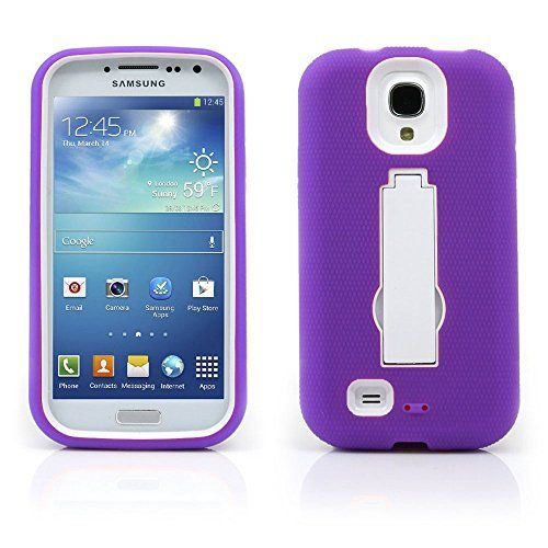 BlueAurora(TM) Samsung Galaxy S4/I9500 Progressive Guerilla Armor Case w/ Built-in Kickstand & FREE B.A. Stylus Pen-Retail Packing (Purple/White)  This protective cover is specifically designed for your phone.?It will protect your phone from unwanted scratches. Give your phone an extra edge by using this product.