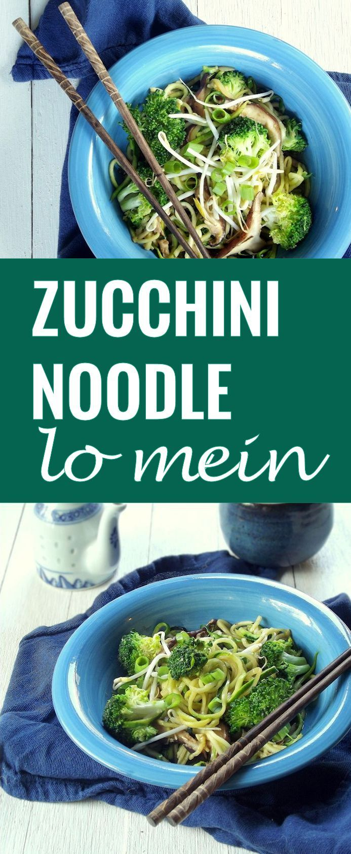 Zucchini Noodle Lo Mein: if you don't tell anyone the noodles are made of zucchini, they'd never know (gf, vegan).