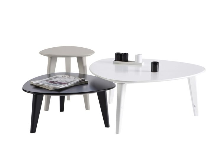 STONE Satsbord Grå/Vit/Svart i gruppen Inomhus / Soffbord hos Furniturebox (100-56-71797)