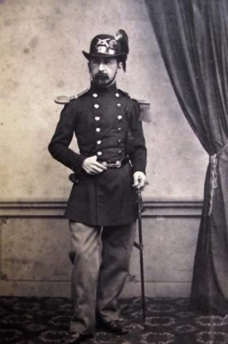 1865 c. CDV vintage albumen carte de visite Major Dr. Aldof Wieland by Gysi…