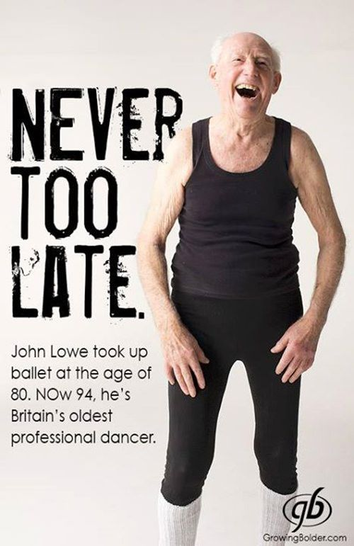 Fitness Matters #170: Never too late. John Lowe took up ballet at the age of 80. Now 94, he's Britain's oldest professional dancer.