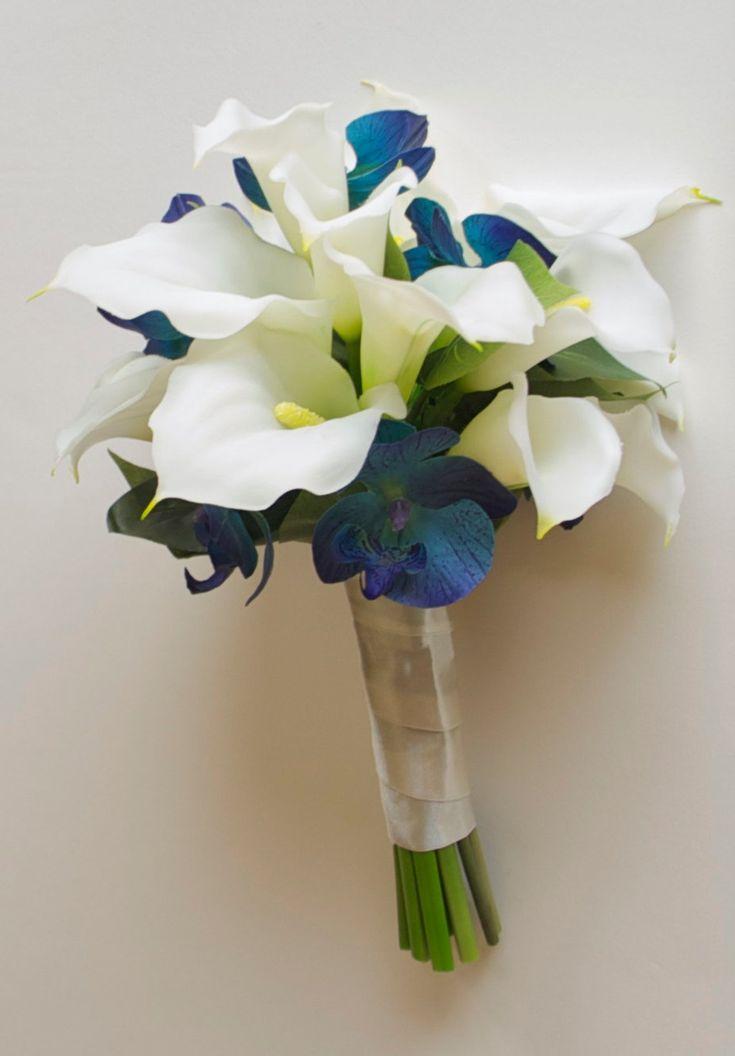 Букет невесты из синих каллы цена