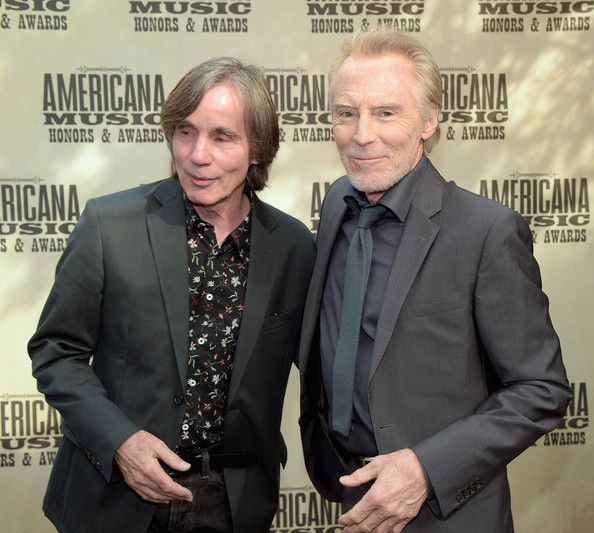 Jackson Browne and J. D. Souther attend the 13th annual Americana Music Association Honors and Awards Show at the Ryman Auditorium on September 17, 2014 in Nashville, Tennessee. - Arrivals at the Americana Music Festival
