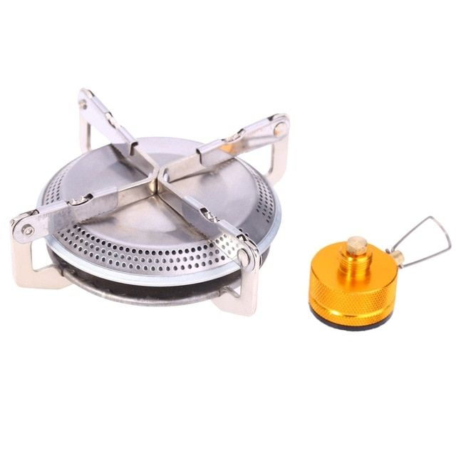 Safety Mini Camping Hiking Portable Outdoor Picnic Steel Stove Gas Burner Camp