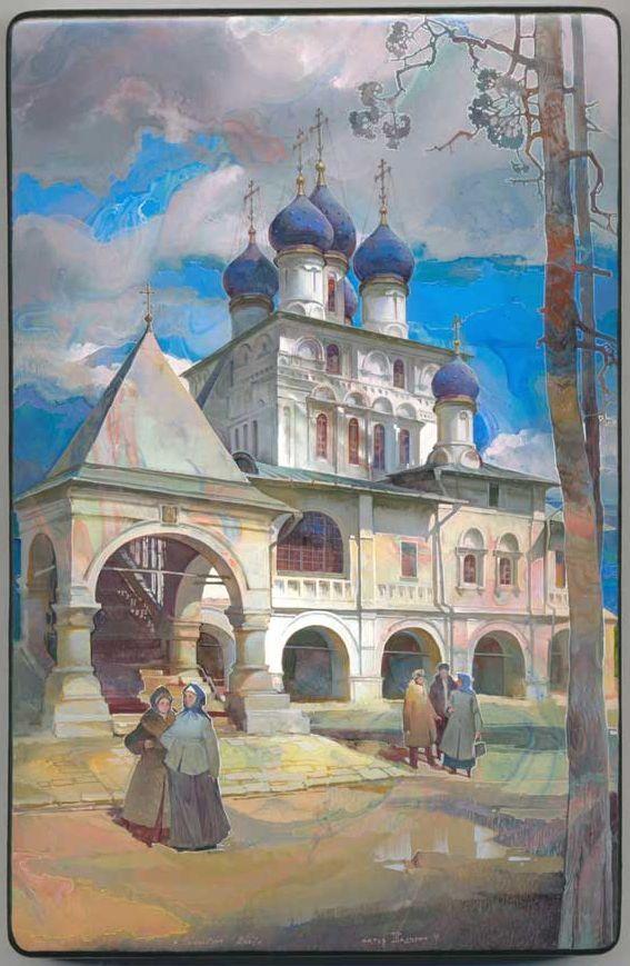Michail Shelukhin, Lacquer box from Fedoskino, Eglise de l'Icône de Kazan de la Mère de Dieu dans Kolomenskoye