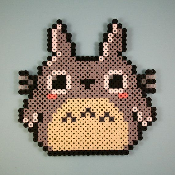 Totoro Perler Bead Sprite, $6.00