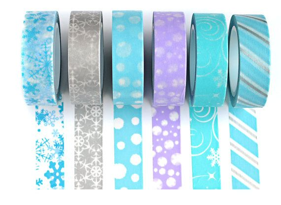 NEW Winter Washi Tape Set with gift box, Japanese paper tape, Chugoku, Planner Stickers, Winter tape, Erin Condren ships from USA