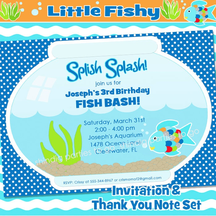 49 best images about calebs birthday party – Ocean Party Invitations
