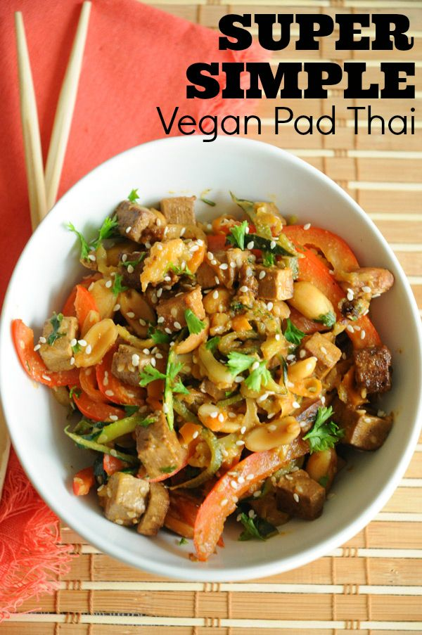 Super Simple Vegan Pad Thai - This is the vegan Pad Thai recipe I seem to make the most. It's just so easy, so delicious and so – SO – filling!