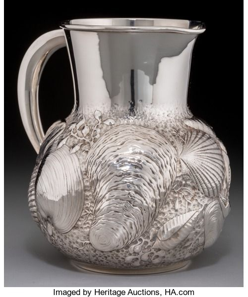 Silver Holloware, American:Pitchers, A Gorham Silver Pitcher with Shell Motif, Providen...