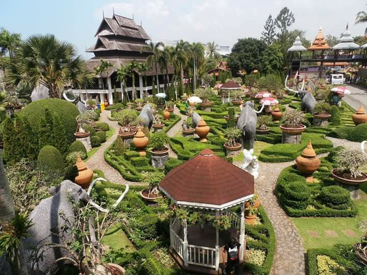 Nong Nooch Garden at Chonburi in Thailand..