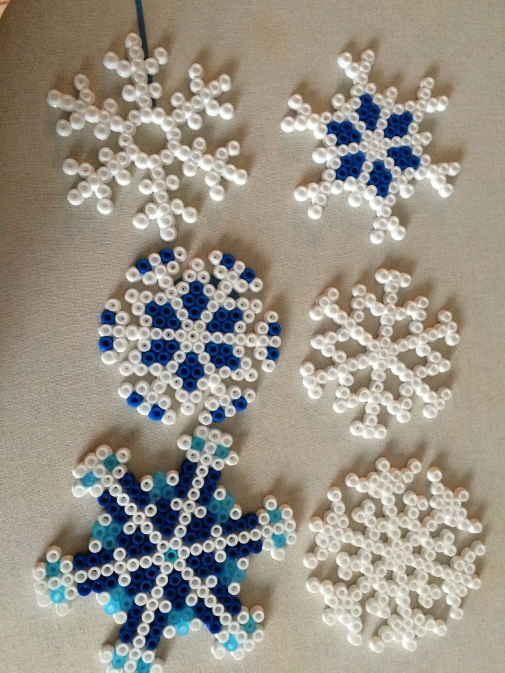 Perler Beads snowflakes Frozen