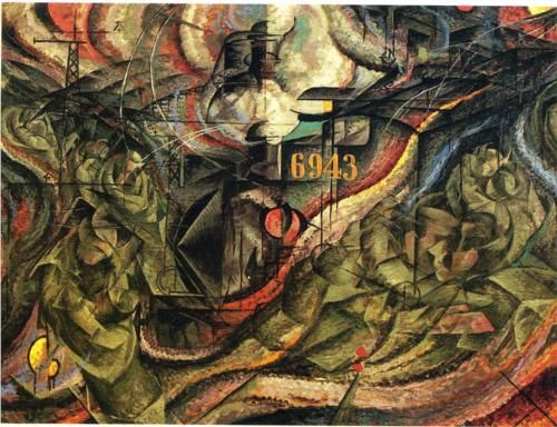 States of Mind I: The Farewells (1911) by Italian artist Umberto Boccioni (1882-1916). Oil on canvas and created in Milan, this work is now held at the Museum of Modern Art in New York.