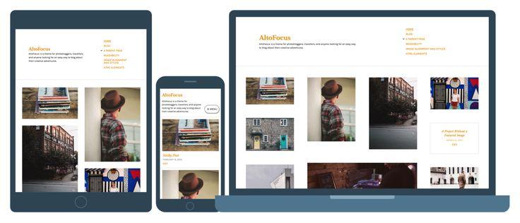 Meet AltoFocus: an elegant, minimal theme designed for artists, photobloggers, and other creatives.