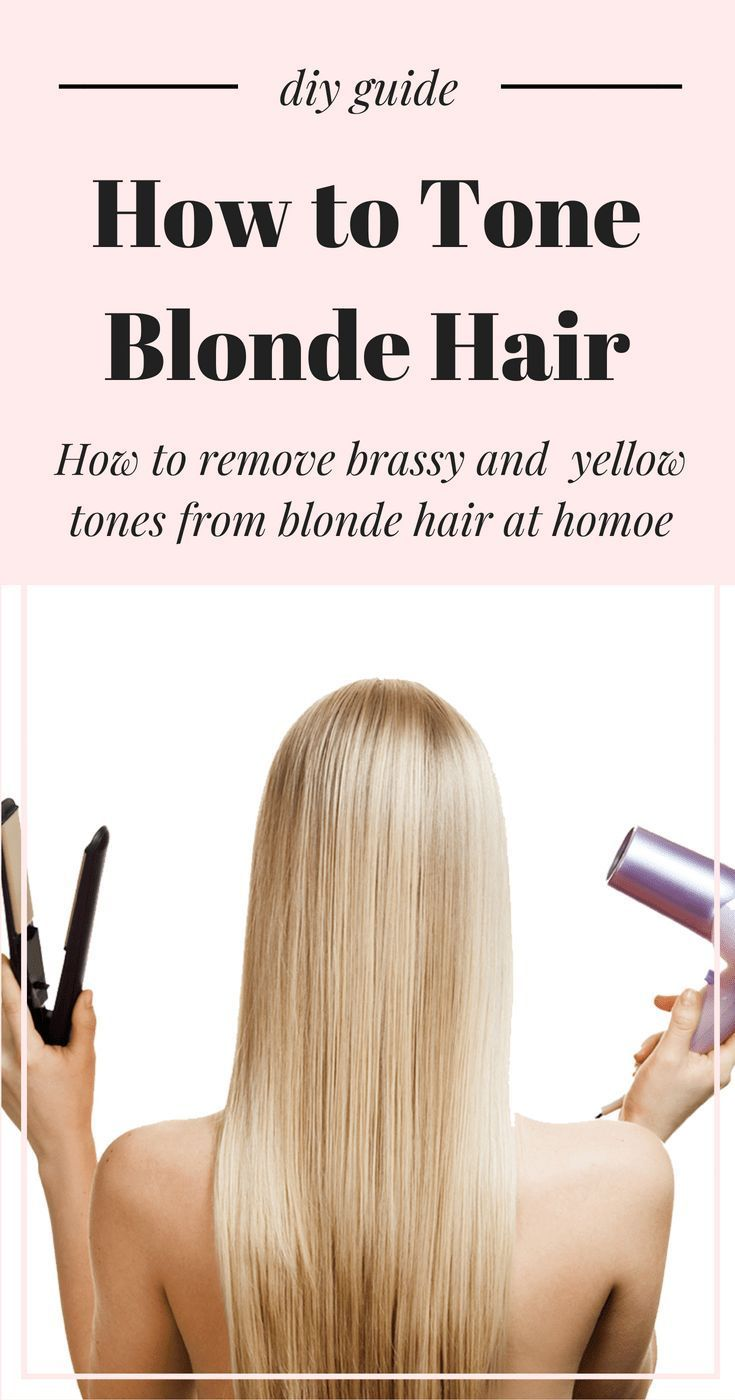 How To Tone Bry Blonde Hair And