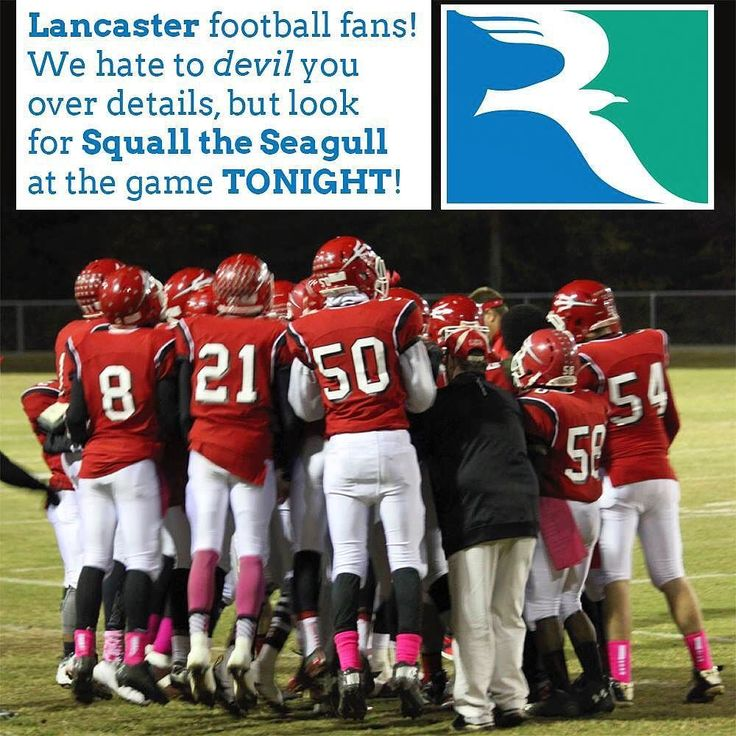 Lancaster Virginia football fans! We hate to devil you over details but look for Squall the Seagull at the game TONIGHT! #fridaynightlights #northernneck #nnk #lancaster #devils #rappahannock #community #college #comm_college #squall #seagull #mascot