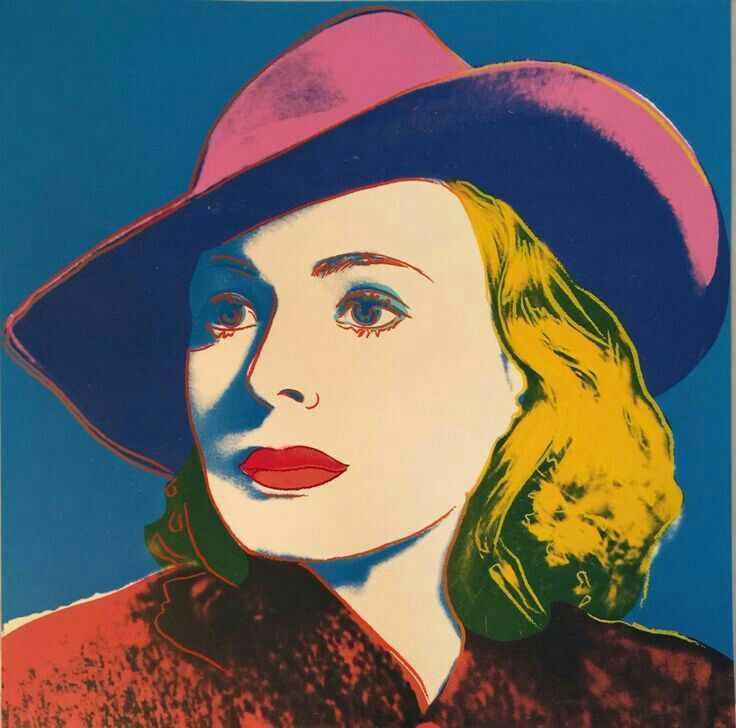 Andy Warhol ( Artist ), Ingrid Bergman with hat , 1983