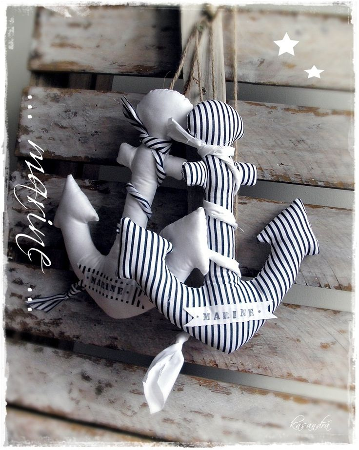 anchors- if we could sew a couple giant ones to decorate the doors in the cabins for camp! Really get into the theme
