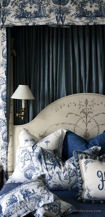 Splendide Toile de Jouy .. X ღɱɧღ ⊰✿  St. Louis Residence / B. Davis Interiors / David Fuller Photo