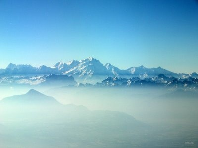 Great view of the alps shortly after takeoff from Geneva