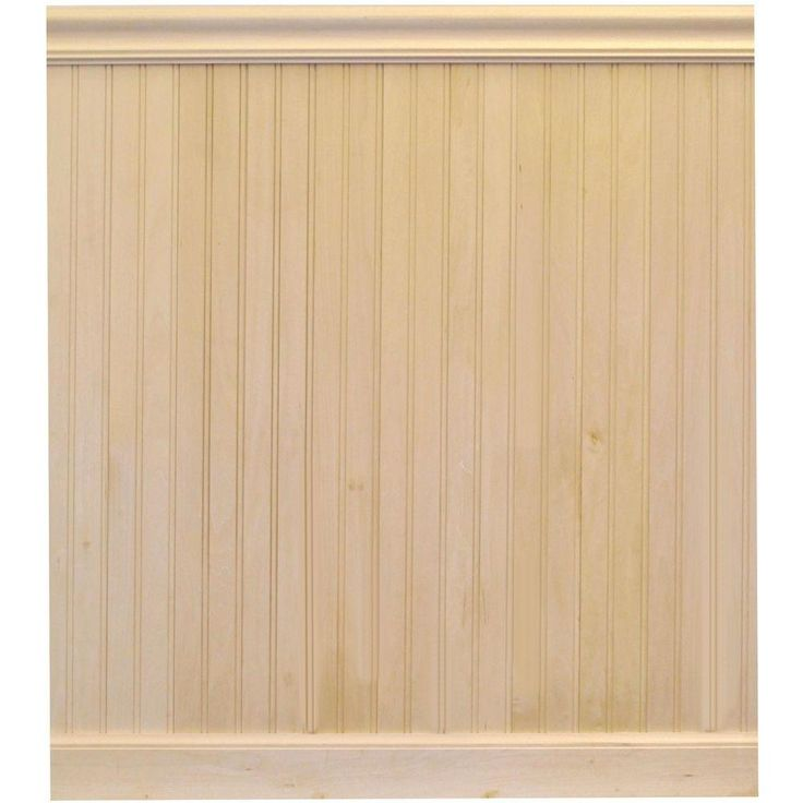 House Of Fara 8 Lin Ft Basswood Tongue And Groove Wainscot Paneling House Home And Home Depot